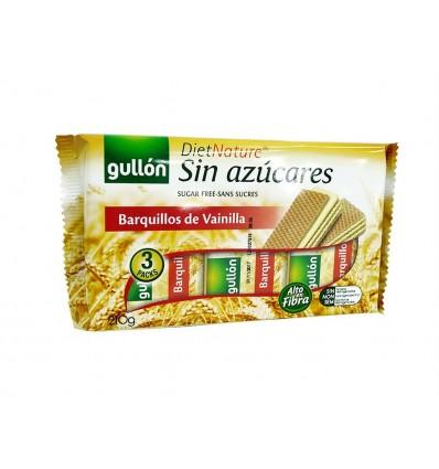Galletas Barquillo de Vainilla Sin Azúcares Paquete 210g Gullón