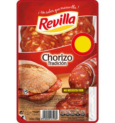 Chorizo Tradición Lonchas Envase 70g Revilla