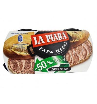 Paté Tapa Negra -50% Grasa Pack 2x73g La Piara