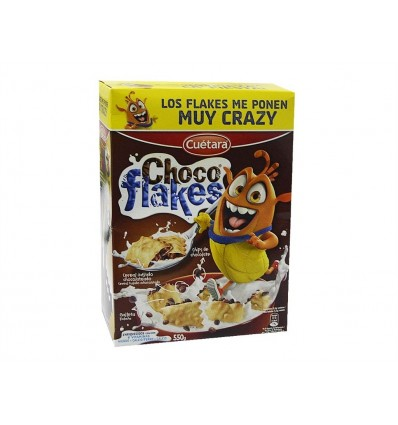 Galletas Cereales Choco Flakes Caja 550g Cuétara
