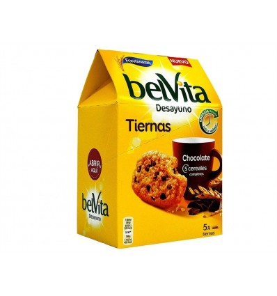Galletas Belvita 5 Cereales Tiernas de Chocolate Paquete 250g Fontaneda