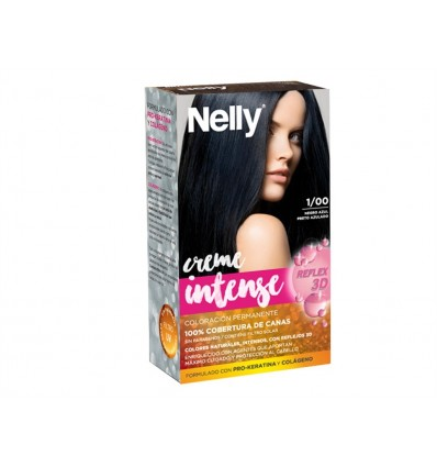 Tinte Negro Azul 1/00 Creme Intense Nelly Caja 1 unidad