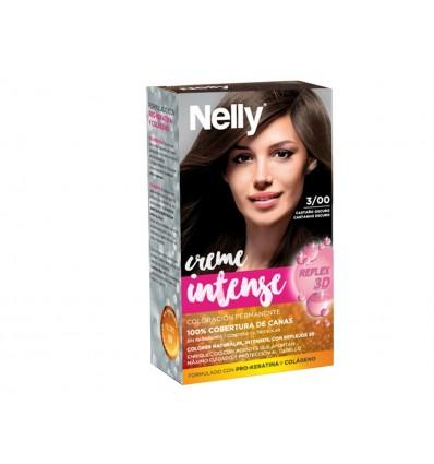 Tinte Castaño Oscuro 3/00 Creme Intense Nelly Caja 1 unidad