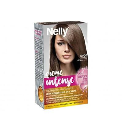 Tinte Castaño Claro 5/00 Creme Intense Nelly Caja 1 unidad