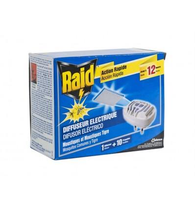 Insecticida Eléctrico Pastillas Accion Rápida Raid Difusor + 10 Pastillas