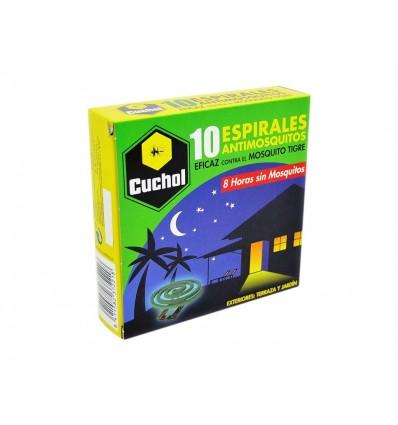 Insecticida Espirales Antimosquitos para Exterior Cuchol Caja 10ud