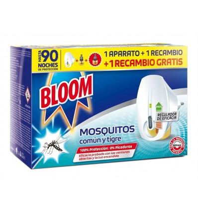 Insecticida Eléctrico Antimosquitos Bloom Difusor + 2 Recambios (90 Noches de Proteccion)