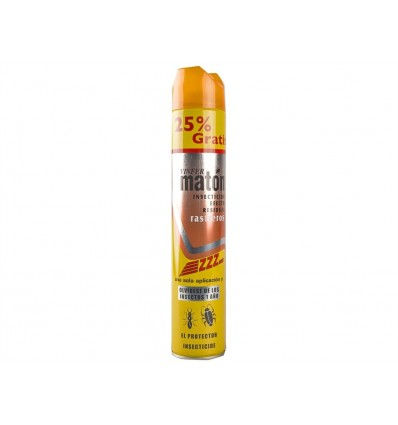 Insecticida con Efecto Residual Maton Spray 750ml (25% Gratis)