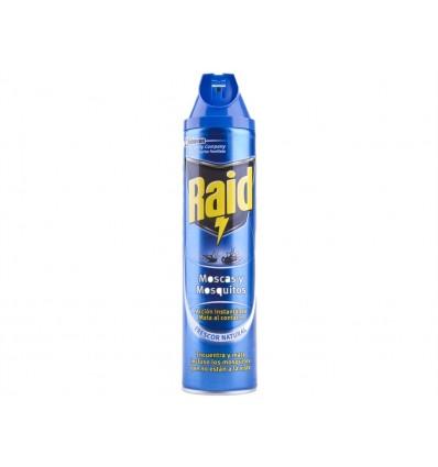 Insecticida Instantáneo para Moscas y Mosquitos Raid Spray 600ml