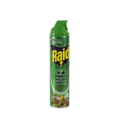 Insecticida Hogar e Interiores Frescor Natural Raid Spray 600ml