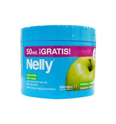 Mascarilla con Extracto de Manzana Cabellos Secos Nelly Bote 250ml + (50% Gratis)
