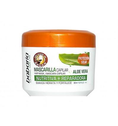 Mascarilla Nutritiva y Reparadora con Aloe Vera Babaria Bote 400ml