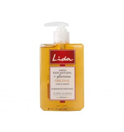 Jabon de Manos Original 100% Natural de Glicerina Lida Dosificador 250ml