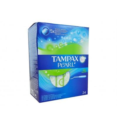 Tampones Pearl Super Tampax Caja 24 unidades