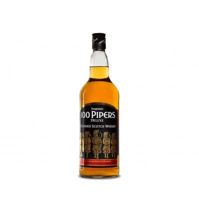 Whisky Escocés 100 Pipers Seagram's Botella 700ml