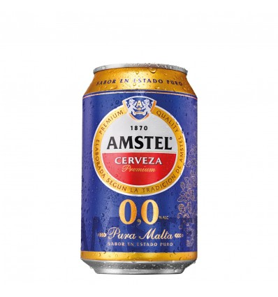 Birra Amstel 0,0 Alcohol 33 Cl pack 8