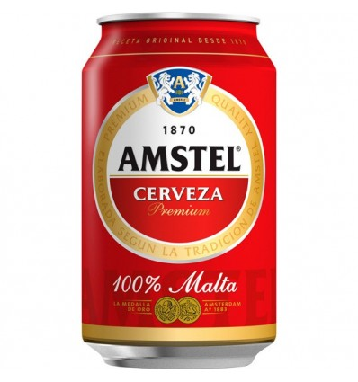 Cerveza Amstel 33 Cl Ml pack 8