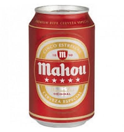 Cerveza Mahou 5 Estrellas 33 Cl pack 8