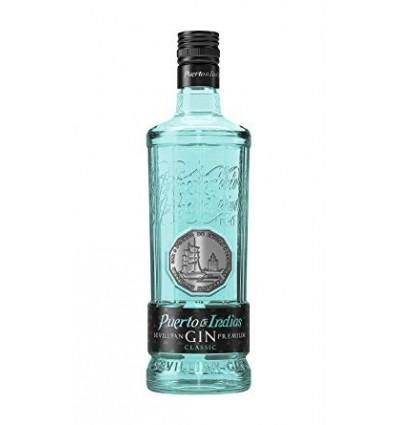 Gin Puerto De Indias Clasica Azul 0.