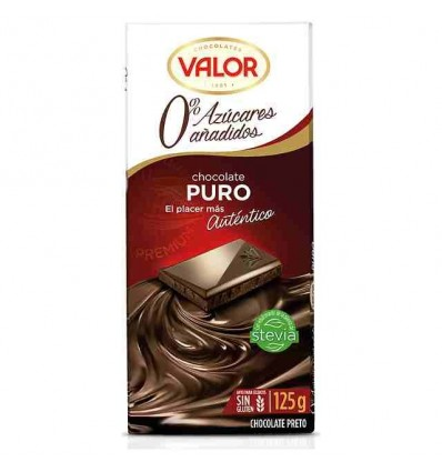 Chocolate Valor Sin azucar Puro 100 Grs