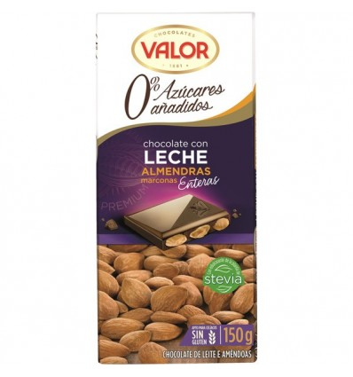 Chocolate Valor Sugra free Milk-Almonds 150 Grs