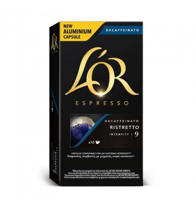Coffee L'Or Ristreto decaffeinated 10 Compatible capsules Nespresso