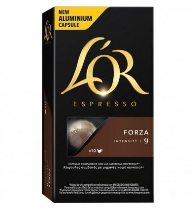 Cafe L'Or Espresso Forza 10 capsulas Compatible Nespresso