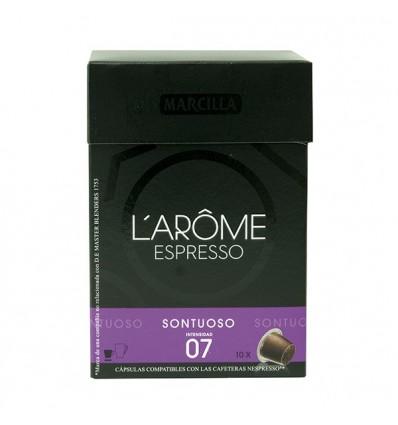 Kaffee L'Or Suntuoso 10 Kompatible Kapseln Nespresso