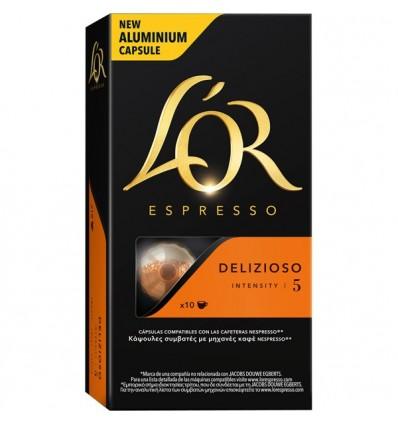 Kaffee L'Or Delizioso 10 Kompatible Kapseln Nespresso
