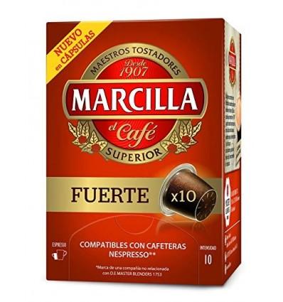 Cafe Marcilla Fuerte 10 capsulas Compatible Nespresso