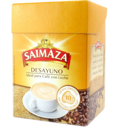 Cafe Saimaza Intenso 10 capsulas Compatible Nespresso
