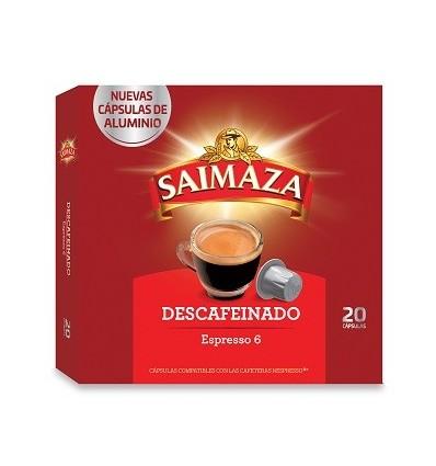 Cafe Saimaza Descafeinado 10 capsulas Compatible Nespresso