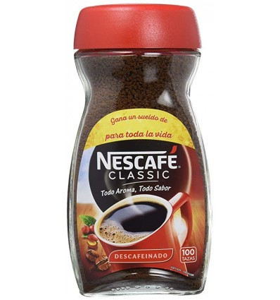 Instant coffee Nescafé decaffeinated 200 Grs