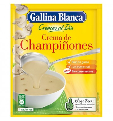 Soup Gallina blanca mushrooms