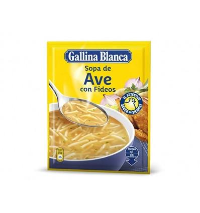 Suppe Gallina blanca Vogel mit Fadennudeln
