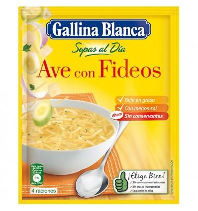 Sopa Gallina blanca Pollo Fideos Finos