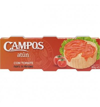 Atun Campos Tomate Ro-80 Grs Pk-3