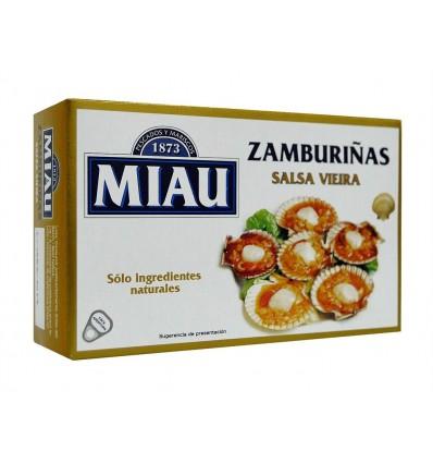 King scallop Miau sauce Viera 115 Grs