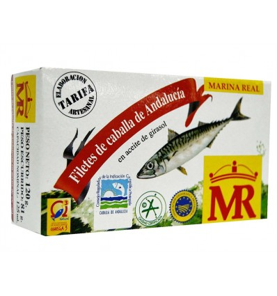 Filete Caballa Mr Aceite 120 Grs