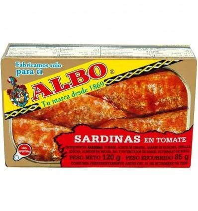 Sardinas Albo Tomate 120 Grs
