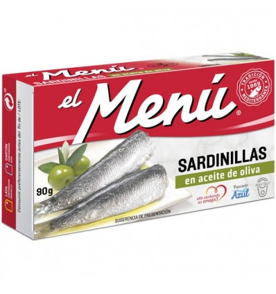 Sardinillas El Menu Aceite vegetal 90 Grs