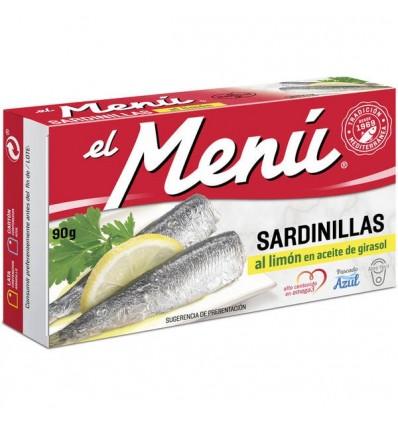 Petites Sardines El Menu Citron 90 Grs