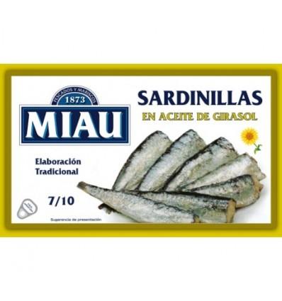 Small Sardines Miau Vegetal oil 90 Gr