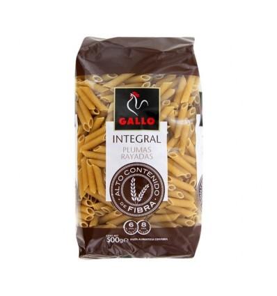 Pasta Gallo Integral Pluma Rallada 500 Grs