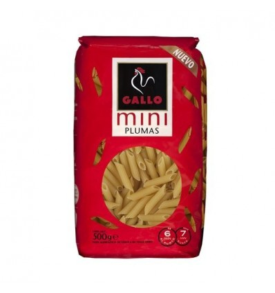 Pasta Gallo Mini Plumas 500 Grs