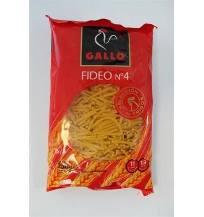 Pasta Gallo Fideos nº4 250 Grs