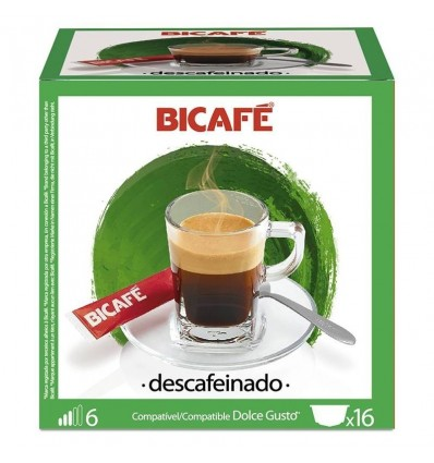 Coffee Bicafé 16 Capsules (compatible Dolce Gusto) decaffeinated