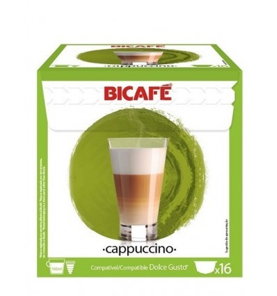 Cafe Bicafe 16 Capsulas (compatible Dolce Gusto) Capuchino