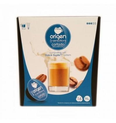 Cafe Origen 16 Capsulas (compatible Dolce Gusto) Cortado Descafeinado