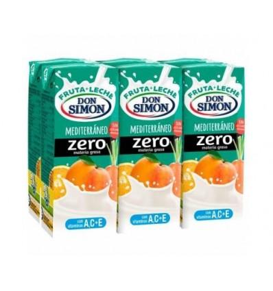 Leche+zumo Funciona Max Don Simon Mediteraneo Zero Pack 6 200 Ml